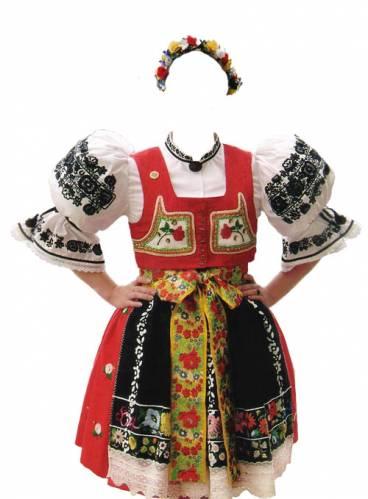 шаблон фотошоп украинский костюм